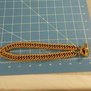 Other - Vintage 80s Thick Gold Colored Chain Necklace